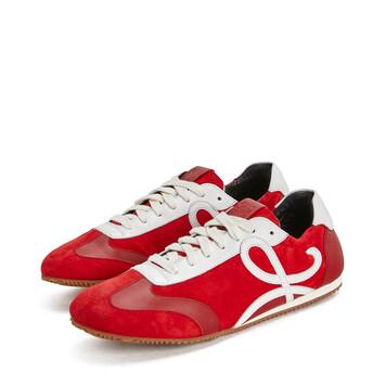LOEWE Ballet Runner Rojo/Blanco front