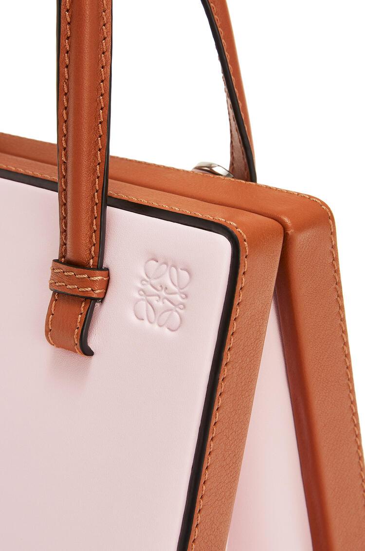 LOEWE Small Postal Bag In Natural Calfskin Icy Pink/Tan pdp_rd