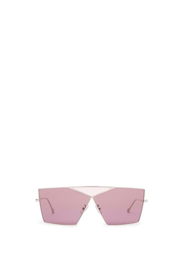 LOEWE SQUARE PUZZLE SUNGLASSES Pale Gold/Burgundy pdp_rd