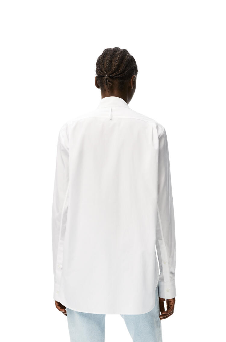 LOEWE Asymmetric shirt pleated bib in cotton White pdp_rd