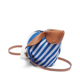 LOEWE Bunny Stripes Mini Bag Pacific Blue/Multicolor front