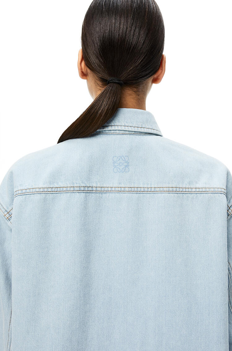 LOEWE Over shirt in denim Light Blue pdp_rd