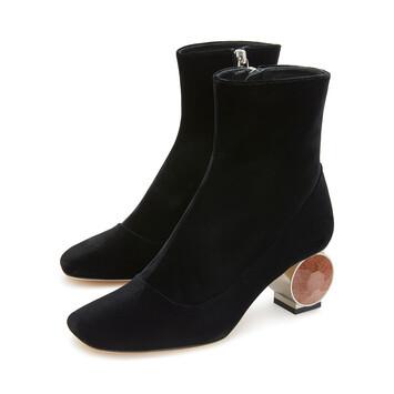 LOEWE Strass Heel Boot 55 Black front