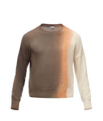 LOEWE Cropped Sweater Tie & Dye Grey/Beige front