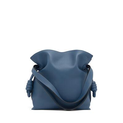 LOEWE フラメンコ ノット スモール バッグ Varsity Blue front