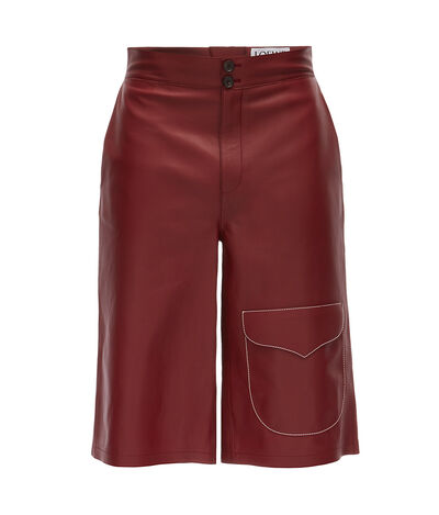 LOEWE Flap Pocket Shorts バーガンディー front