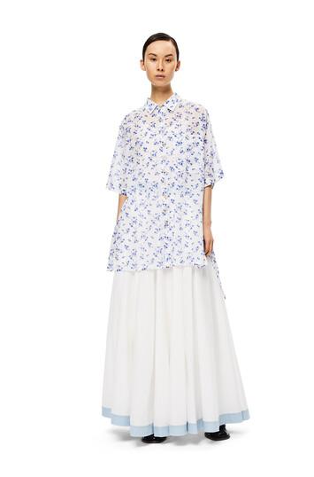 LOEWE Flower Oversize Short Sleeve White/Blue front