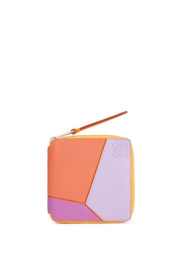 LOEWE Cartera cuadrada Puzzle en piel de ternera clásica con cremallera Pomelo/Malva pdp_rd