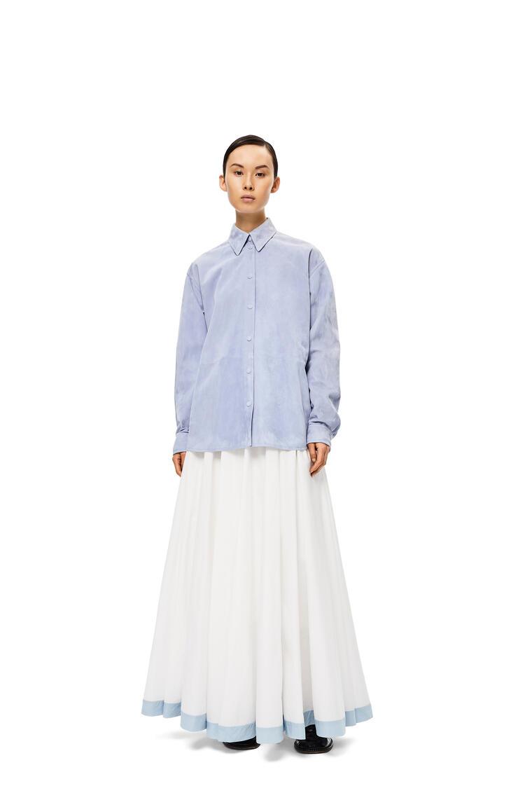 LOEWE Shirt in suede Light Blue pdp_rd