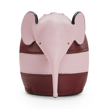 LOEWE Charm Bunny Rugby Vino/Rosa Pastel front