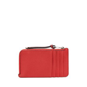LOEWE Coin Cardholder Large Scarlet Red/Brick Red front
