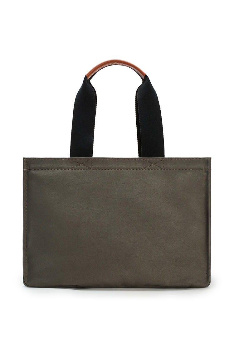 LOEWE Large Paula's Beach Cabas Bag In Canvas Khaki Green pdp_rd
