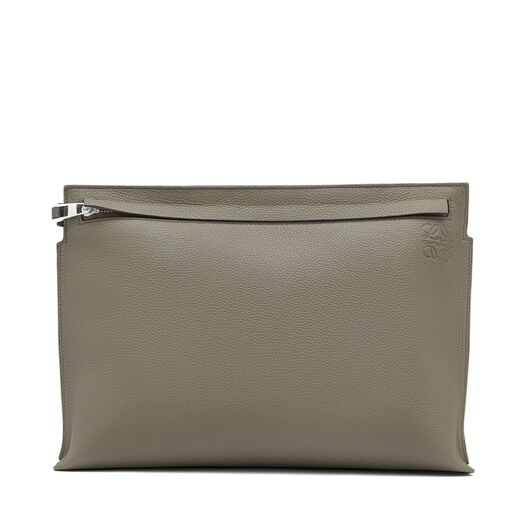 LOEWE T Pouch Bicolor Verde Kaki/Gris Oscuro all