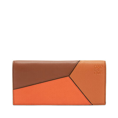 LOEWE Puzzle Long Horizontal Wallet Ginger Multitone front