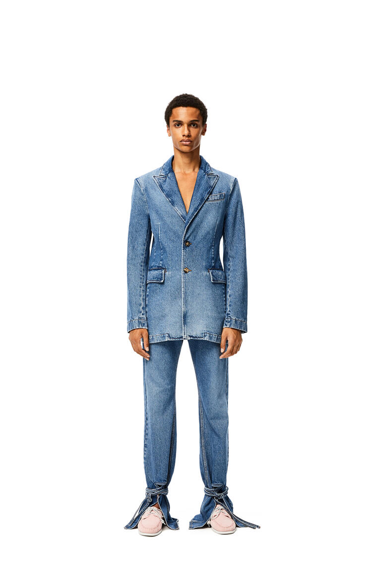LOEWE Tie cut panel trousers in denim Blue pdp_rd