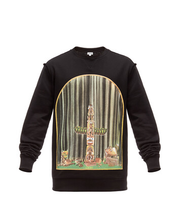 LOEWE Sweatshirt Window Totem Black/Multicolor front