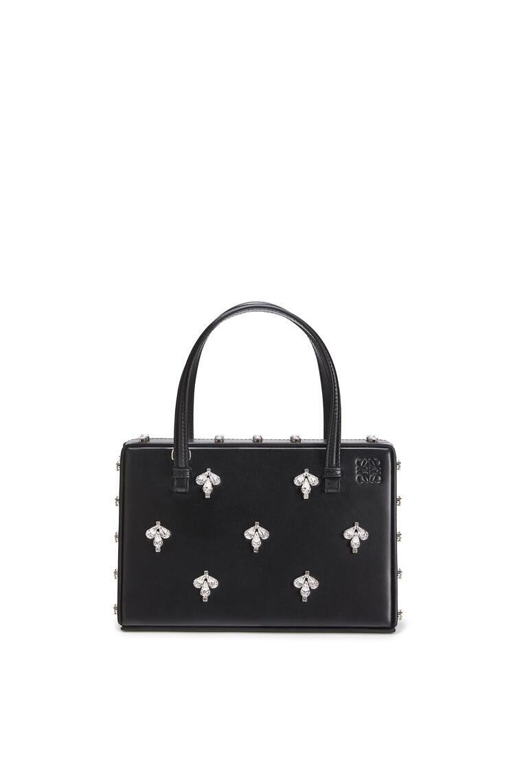 LOEWE Postal crystals bag in natural calfskin Black pdp_rd
