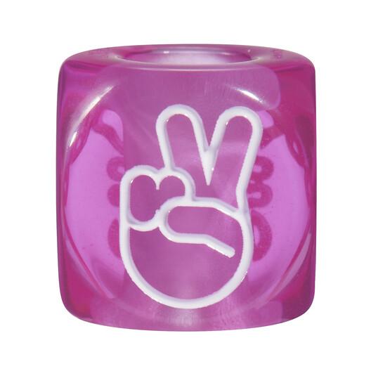 LOEWE Hands Signs Big Dice Purple front