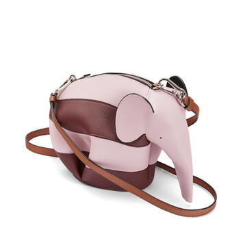 LOEWE Bolso Elefante Rugby Mini  Bolso Elefante Rugby Mi Rosa Pastel/Vino  front