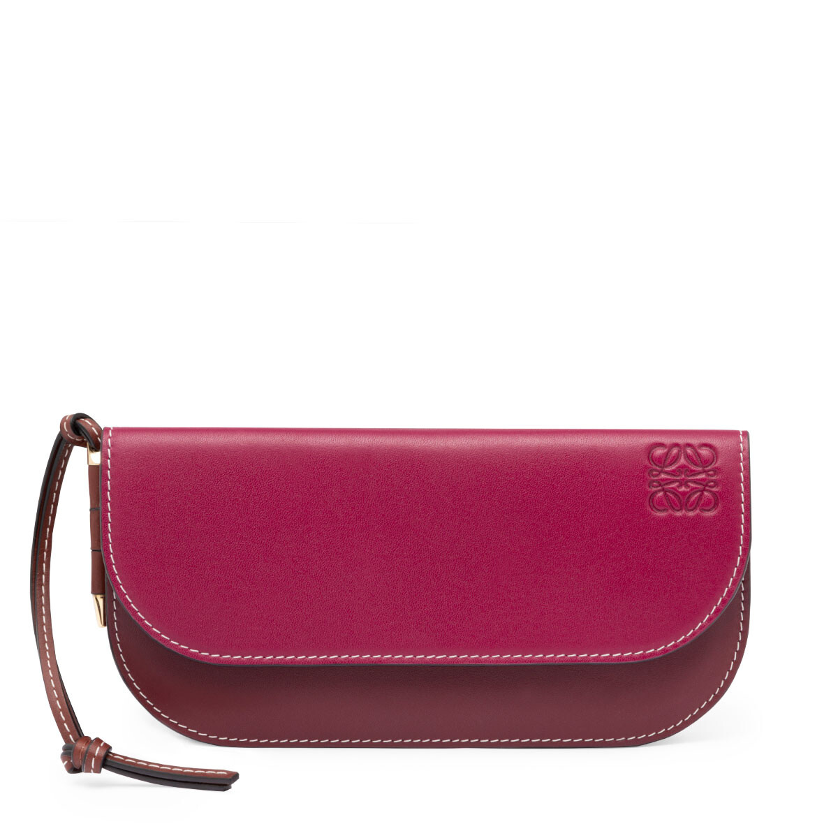 LOEWE Gate Continental Wallet Raspberry/Wine front