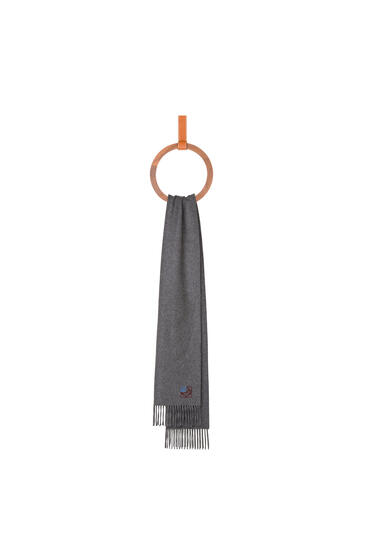 LOEWE Anagram scarf in cashmere 灰色 pdp_rd