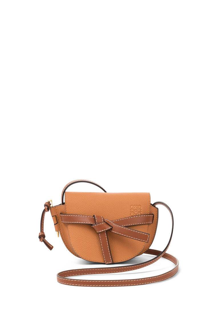 LOEWE Mini Gate Bag In Soft Grained Calfskin Light Caramel/Pecan pdp_rd