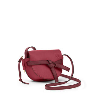 LOEWE Gate Mini Bag Raspberry/Wine front