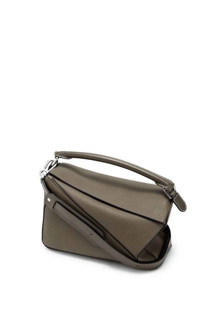LOEWE Puzzle bag in soft grained calfskin Khaki Green pdp_rd