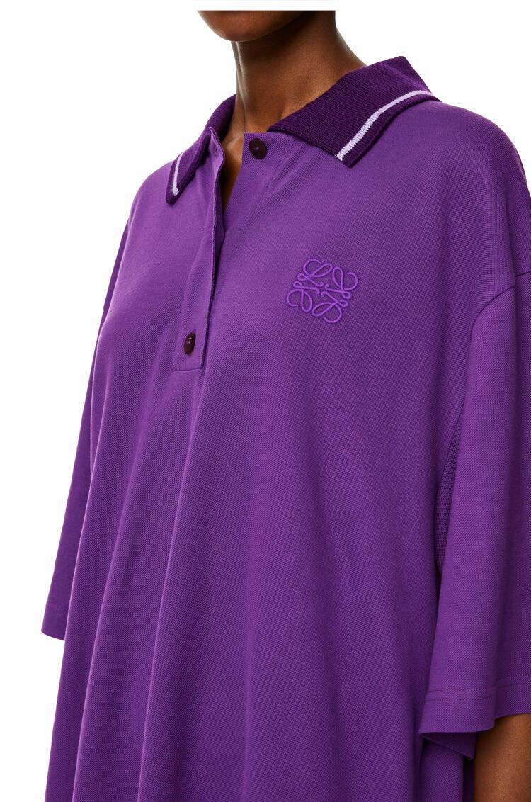 LOEWE Polo oversize en cashmere y algodón con Anagrama Violeta pdp_rd