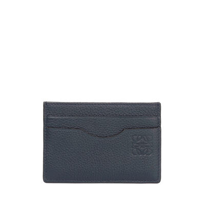 LOEWE Plain Card Holder Midnight Blue/Black front