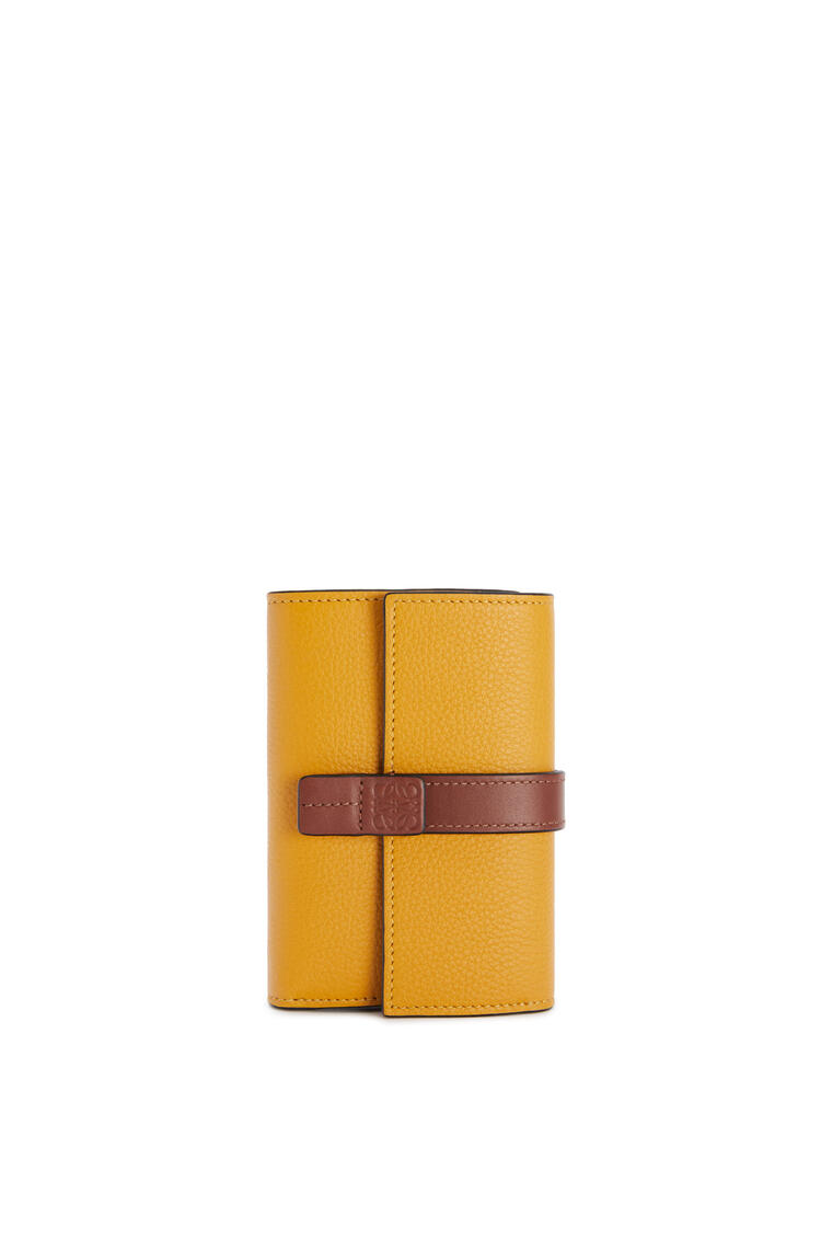LOEWE Small vertical wallet in soft grained calfskin Narcisus Yellow/Pecan pdp_rd
