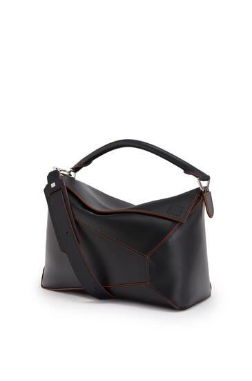LOEWE Large Puzzle Edge bag in natural calfskin Black pdp_rd