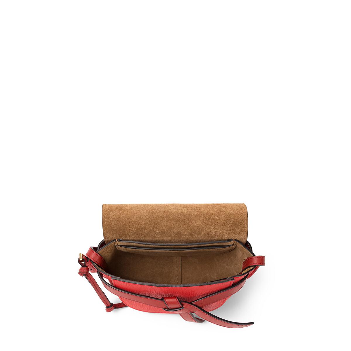 LOEWE Gate Mini Bag Scarlet Red/Burnt Red front