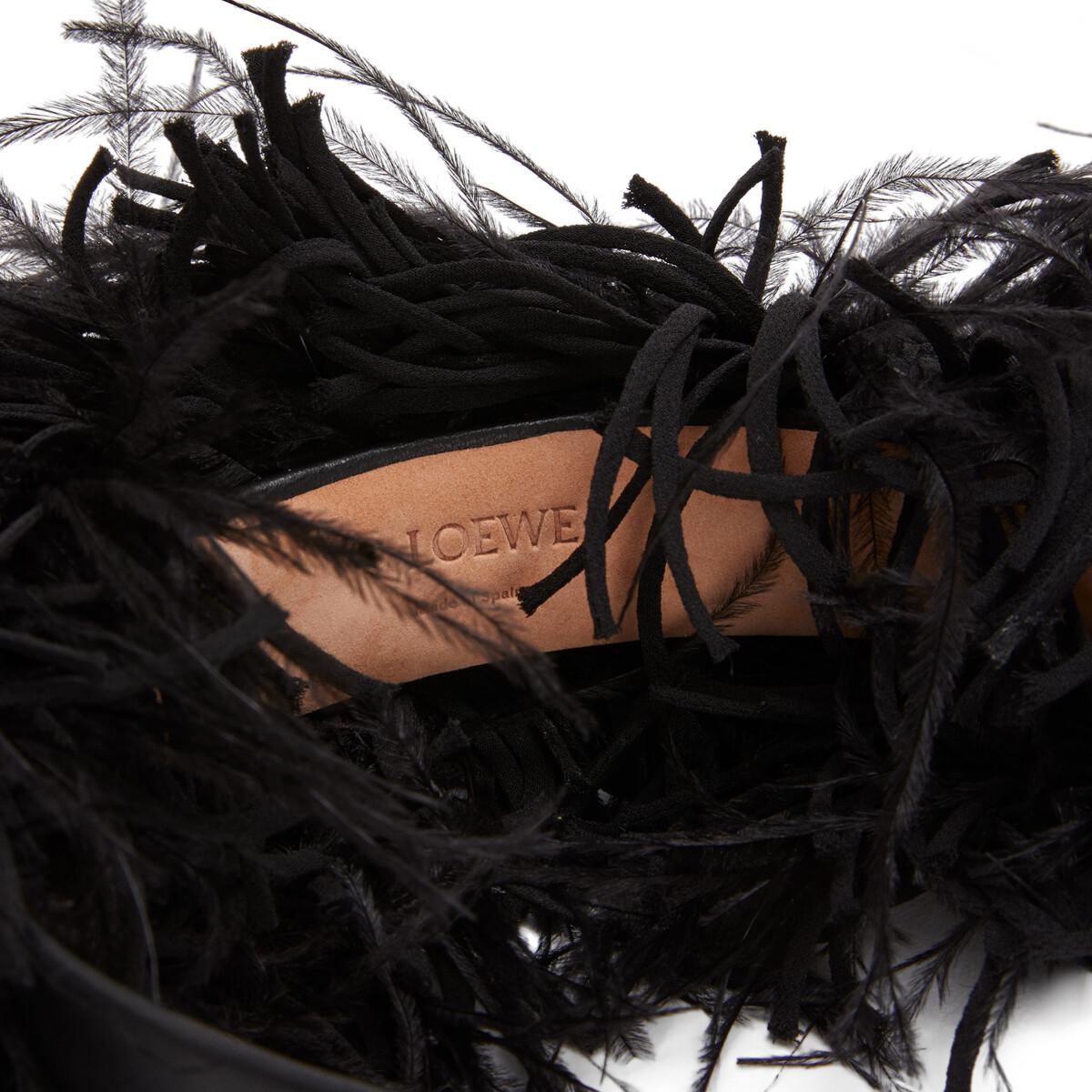 LOEWE Diadema Plumas Negro front