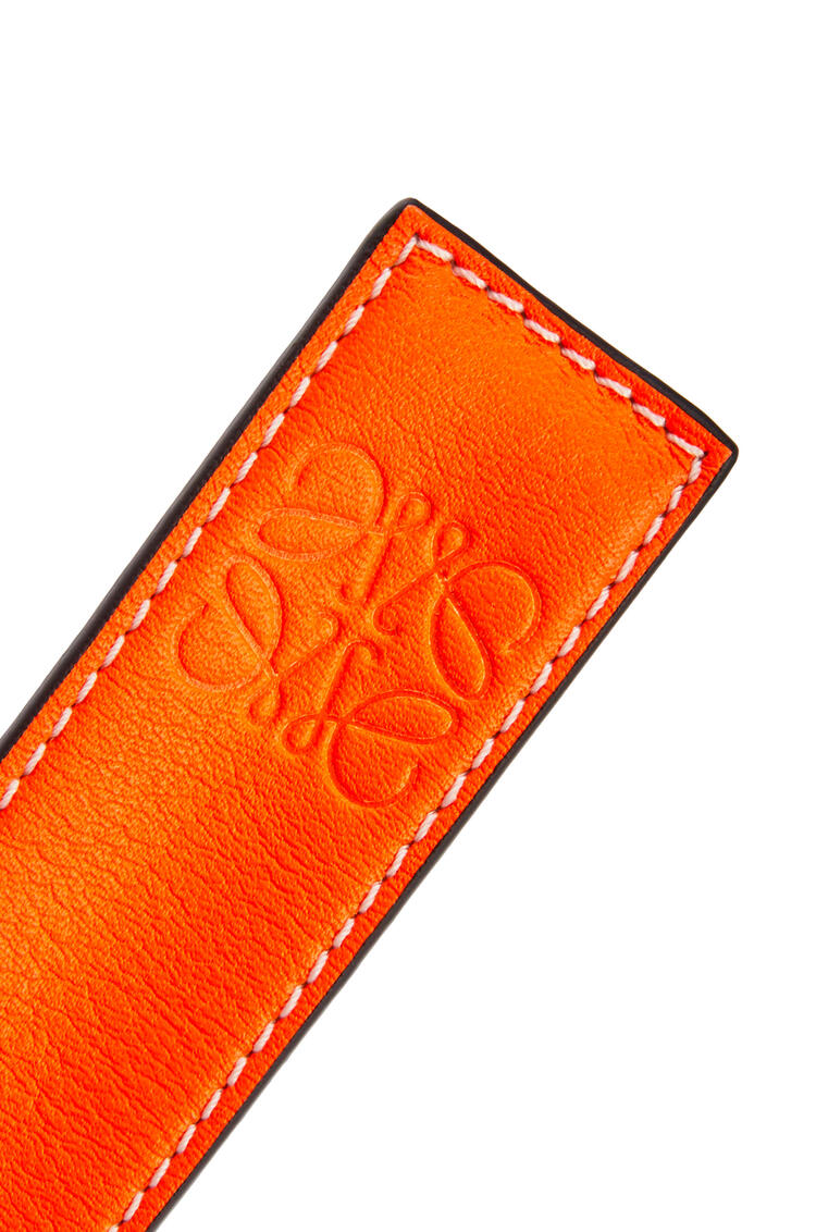 LOEWE Small slap bracelet in classic calfskin Neon Orange pdp_rd