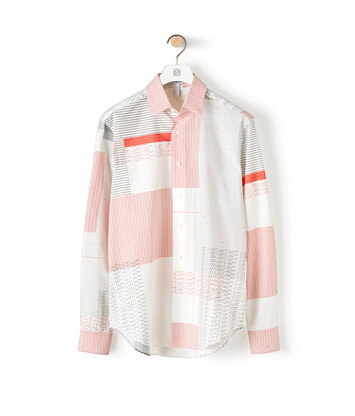 LOEWE Shirt Loewe Letters Allover White/Red/Black front