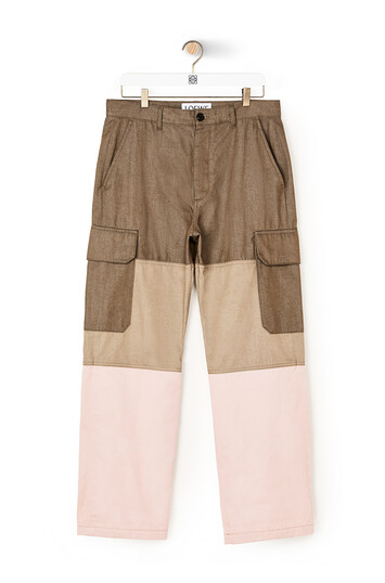 LOEWE Eln Trousers Green/Pink front