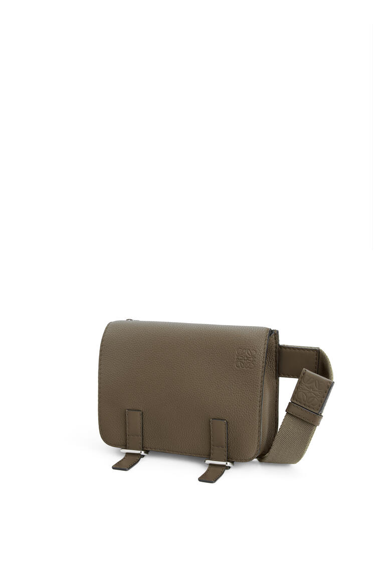 LOEWE Military bumbag in soft grained calfskin Dark Moss pdp_rd