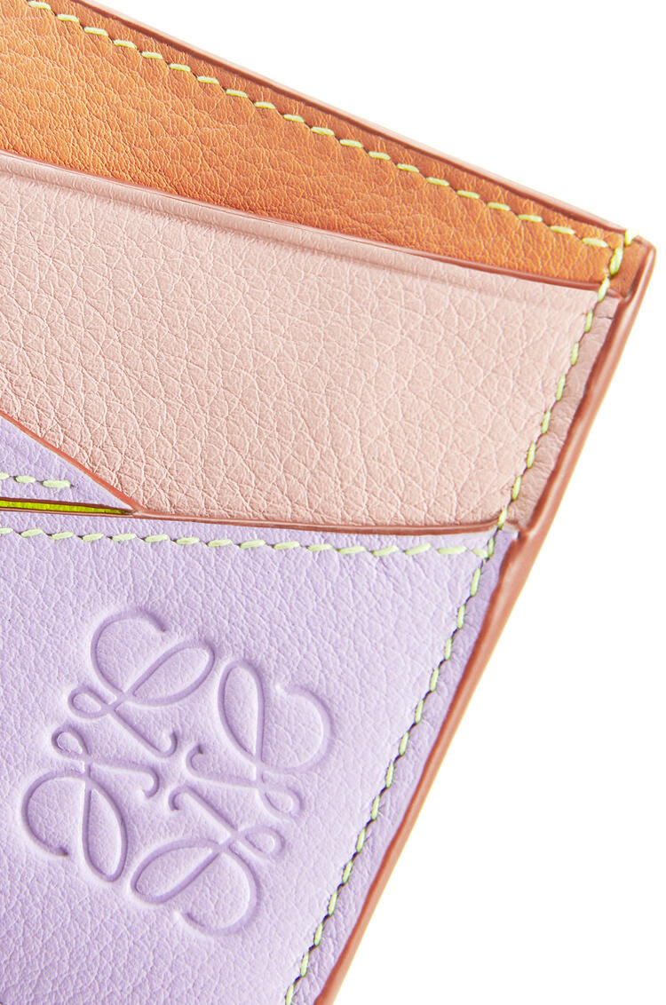 LOEWE Puzzle Plain Cardholder In Classic Calfskin Mauve/Soft Apricot pdp_rd