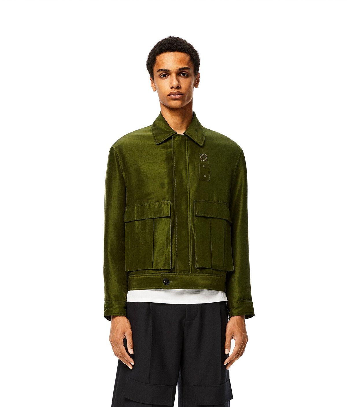 LOEWE Patch Pocket Jacket Khaki Green front