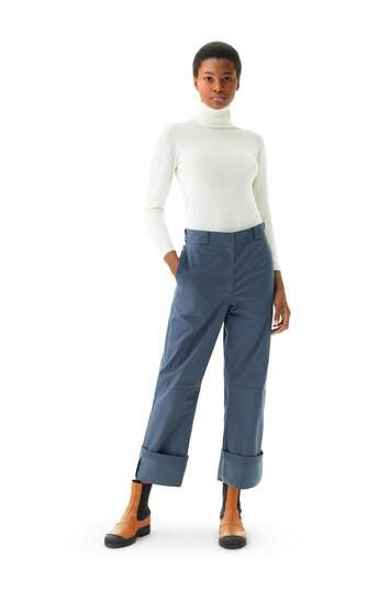LOEWE Turn Up Trousers Varsity Blue front