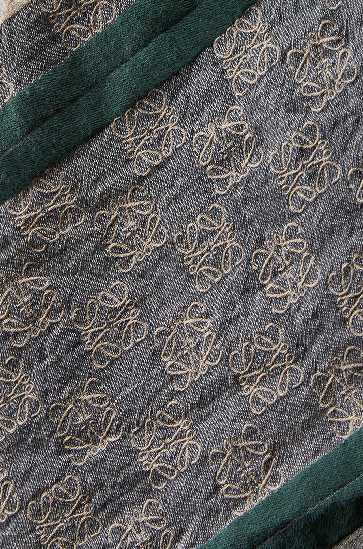 LOEWE 70 x 157 cm LOEWE anagram scarf in cotton White/Pink pdp_rd