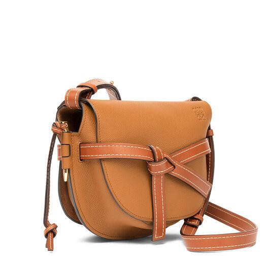 LOEWE Gate Small Bag Light Caramel/Pecan Color  front