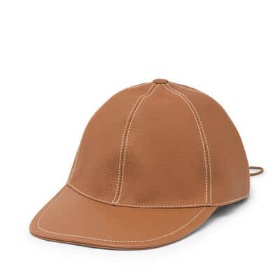 LOEWE Baseball Cap 棕色 front