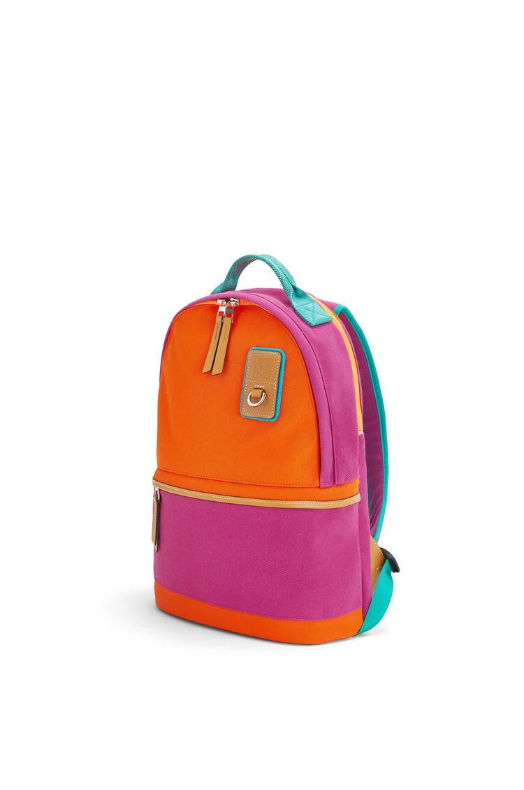LOEWE Small Backpack In Canvas Violet/Orange pdp_rd