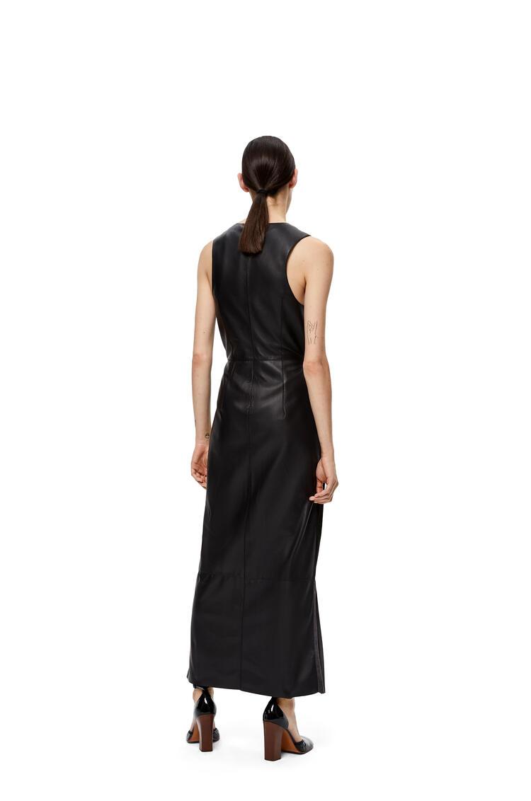 LOEWE V-neck Sleeveless Dress In Suede Black/Grey pdp_rd