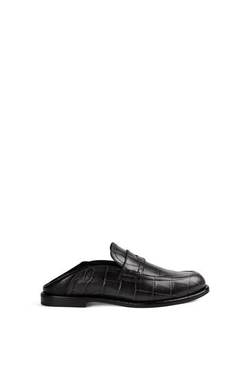 LOEWE Slip on loafer in calfskin Black/Black pdp_rd