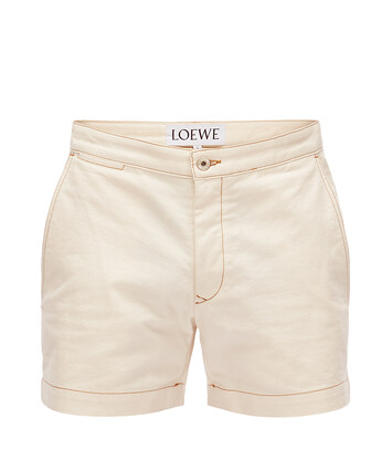 LOEWE Denim Shorts White front
