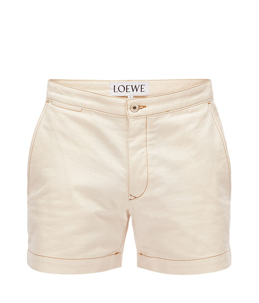 LOEWE デニムショートパンツ ホワイト front