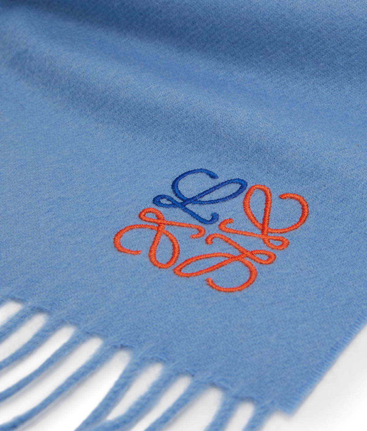 LOEWE 35X170 Anagram Scarf Baby Blue front